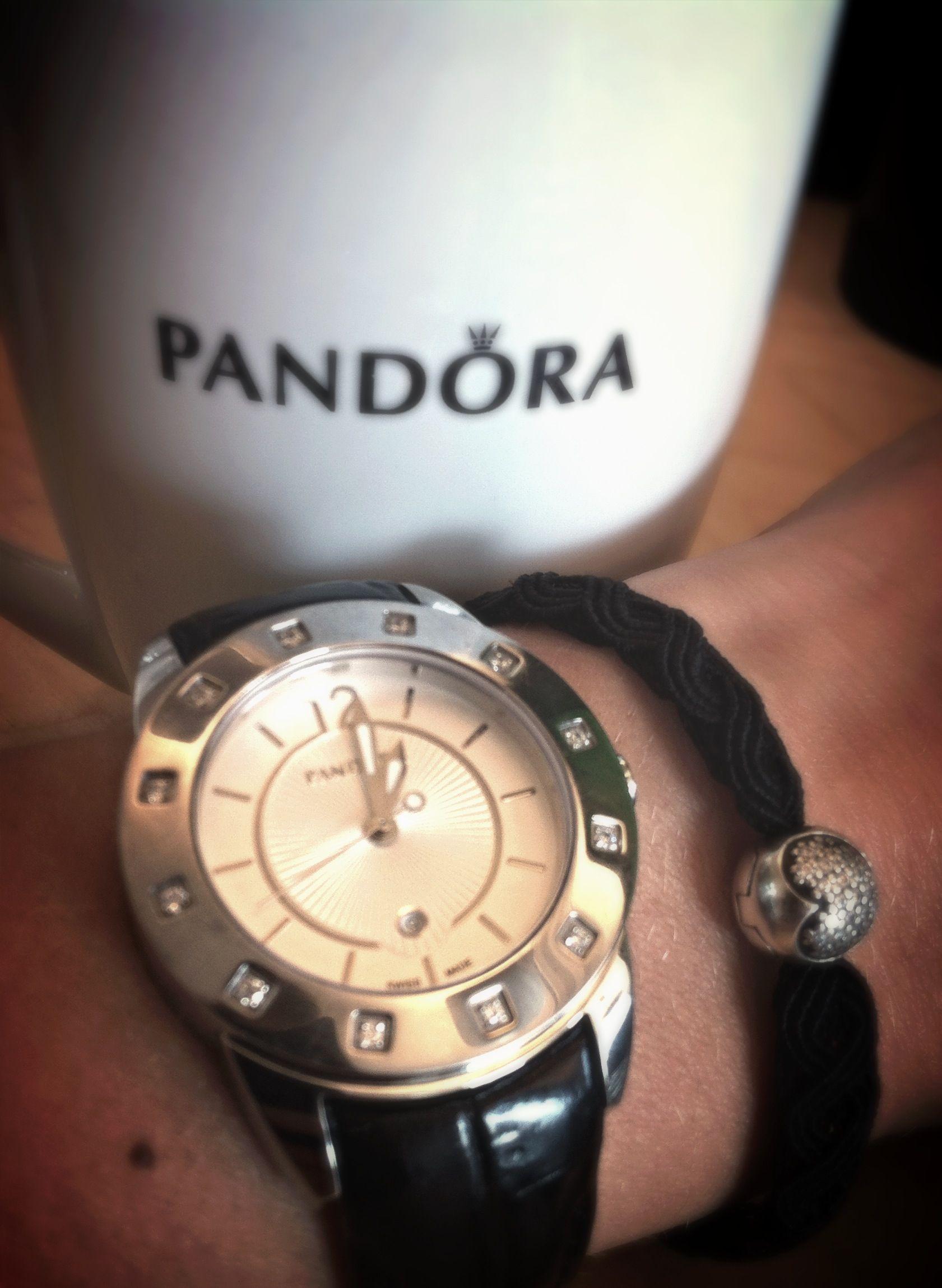 Pandora Watches Imagine With Diamond Bezel And Black