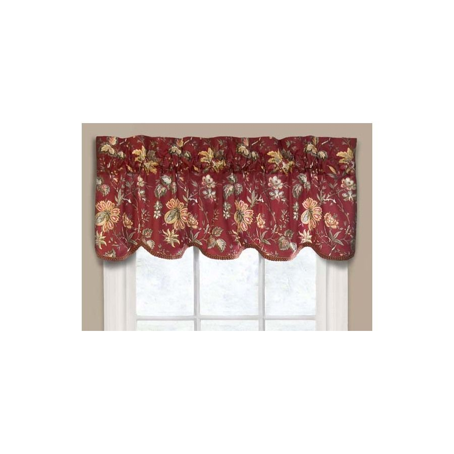 Shop Waverly 16-in L Crimson Home Classics Scalloped Valance ...