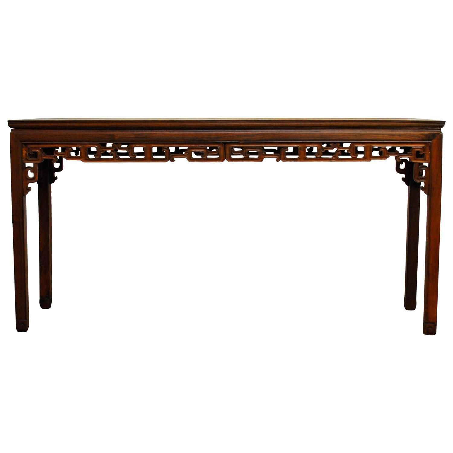 19th century chinese rosewood altar table altars console tables 19th century chinese rosewood altar console table from a unique collection of antique and modern geotapseo Gallery