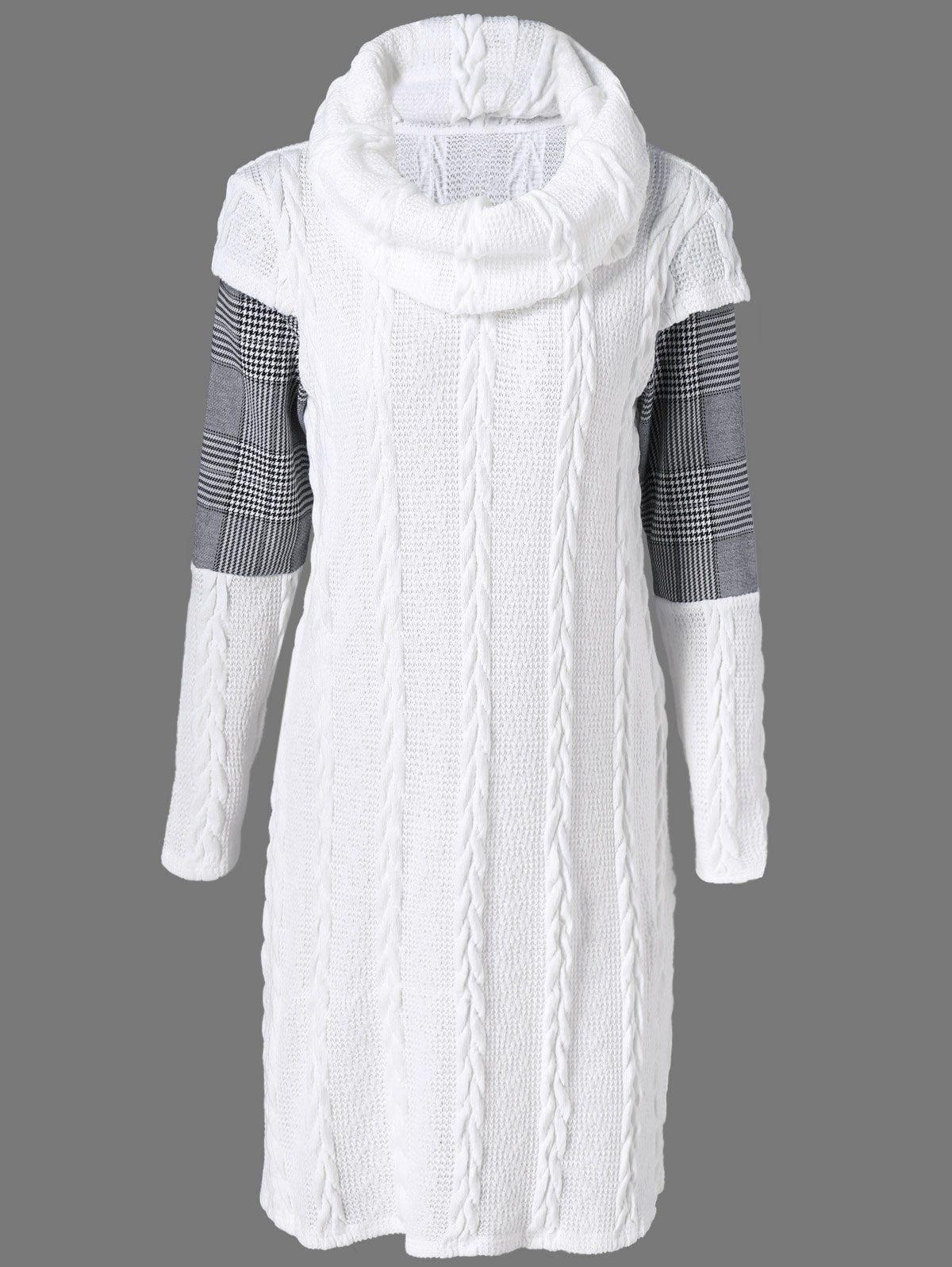 0eebc1abeae Plaid Cowl Neck Jumper Dress in 2019