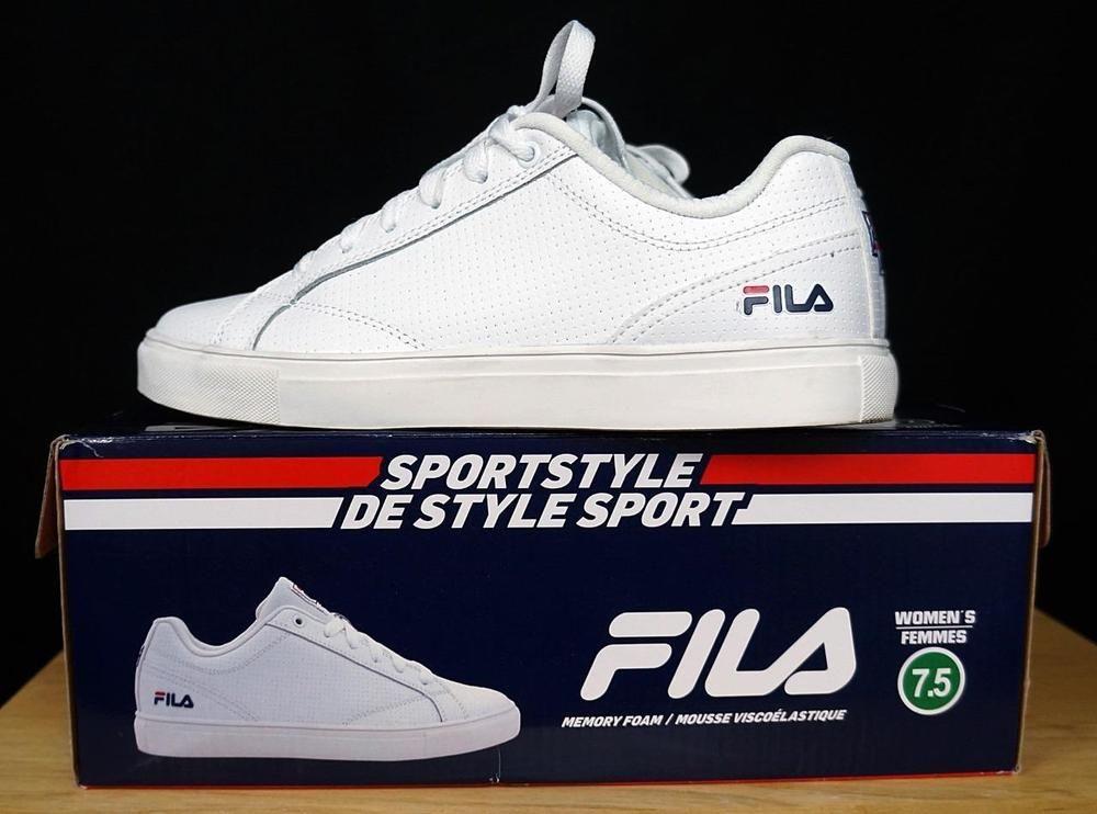 623b54903a727e Women White Fila Sport Style Athletic Shoes Cool Max Memory Foam sz 7.5 USA   FILA  LowTop