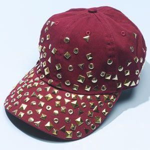 Studded Baseball Cap. How to Make ... b956a3848566