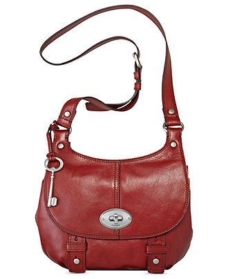 Fossil Handbag Maddox Leather Flap Crossbody Handbags Accessories Macy S