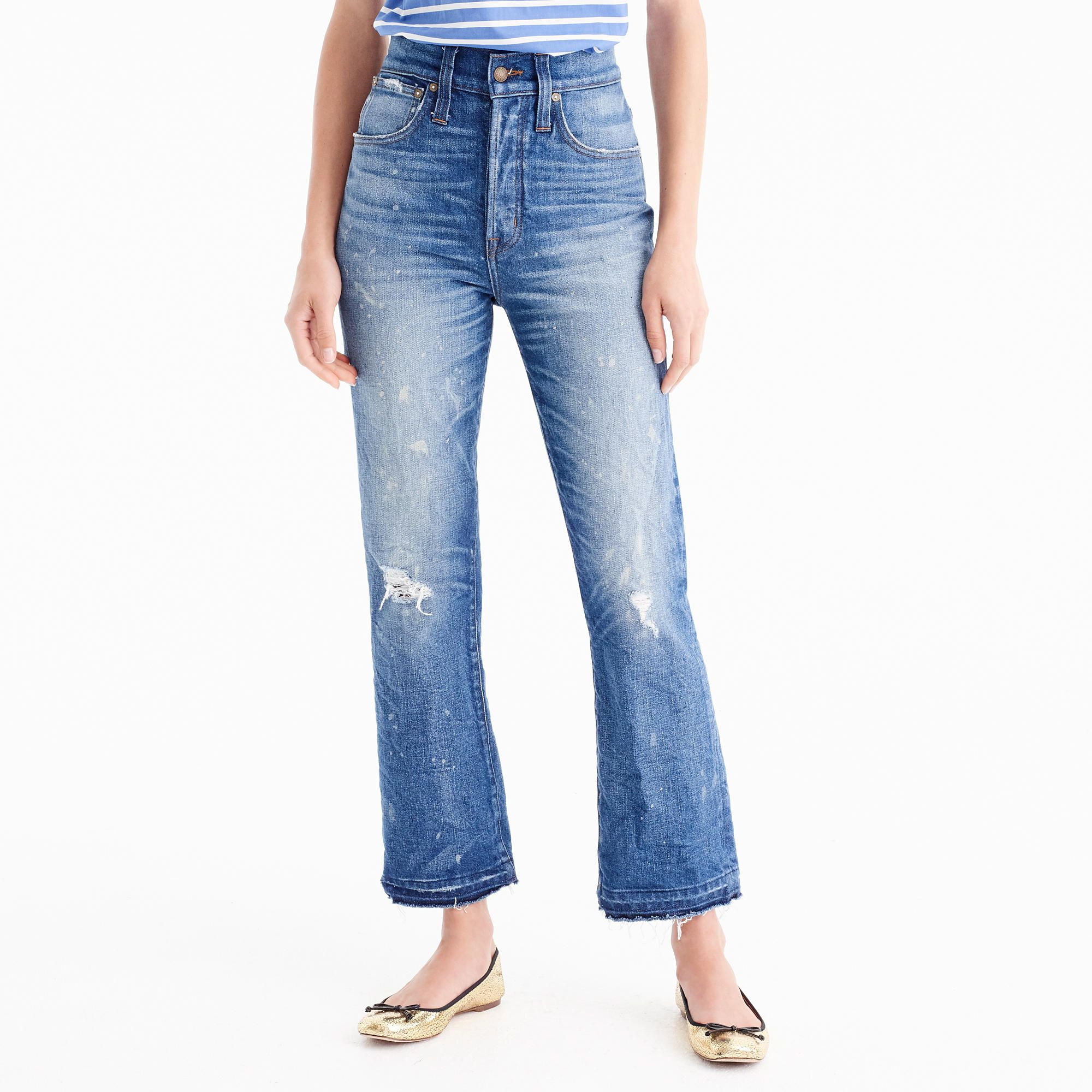 Point Sur cropped high-rise demi-boot jean   The silhouette, Points ... 8859e1f02c13