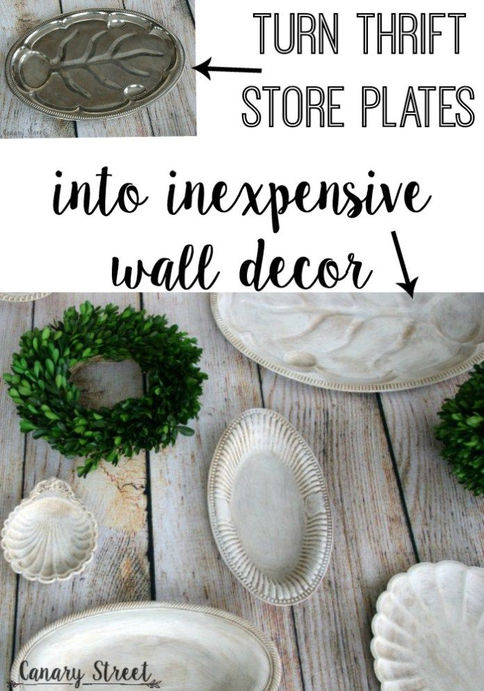 upcycled thrift store plates diy cheap home decor online affordable home decor thrifting. Black Bedroom Furniture Sets. Home Design Ideas