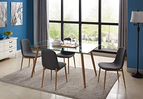 Kitchen Dining Table Set For 4 With, Dining Room Chair Foot Pads