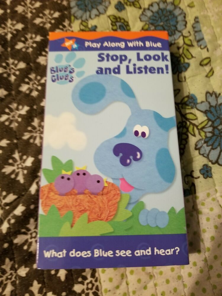 Blue S Clues Stop Look And Listen 2000 Vhs Blues Clues Vhs Listening