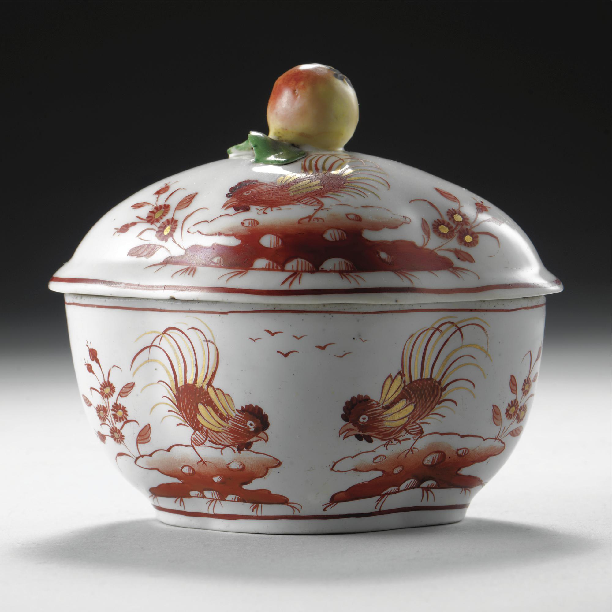A Doccia Porcelain Sugar Pot Late 18th Century Porcellana