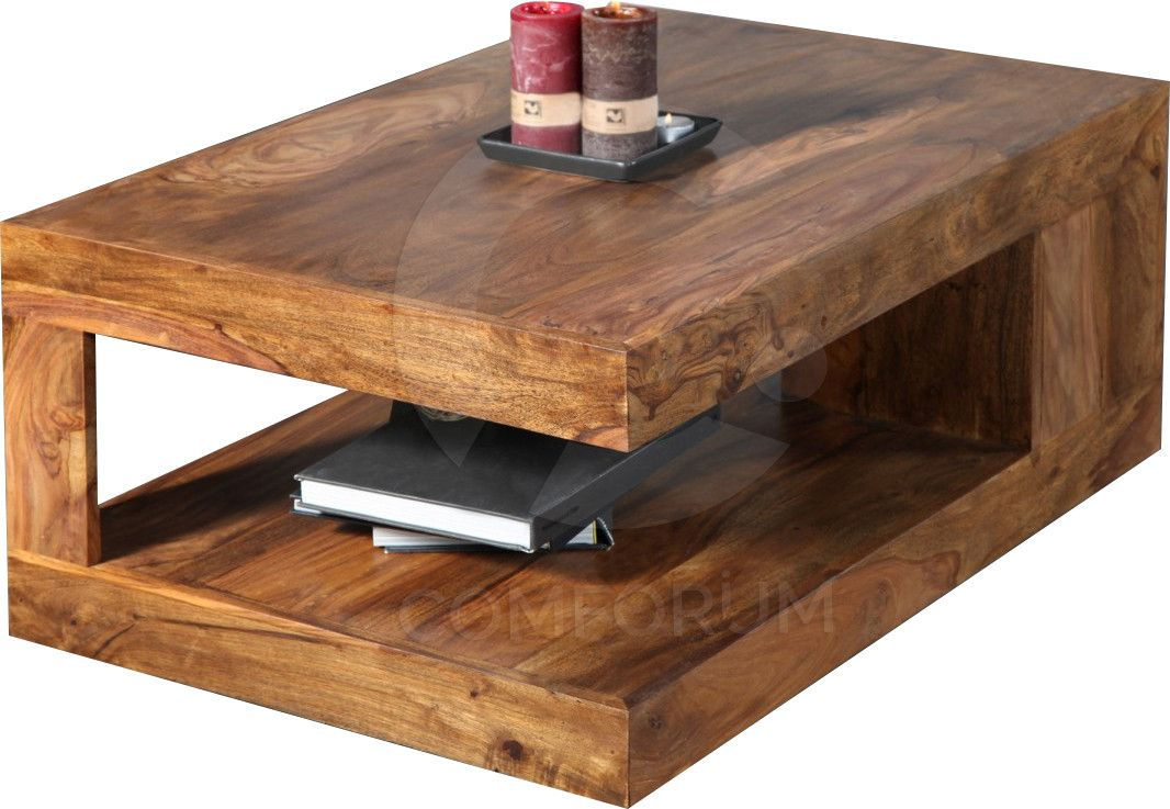Table Basse 90x60 Cm En Bois De Sheesham Massif Coloris Naturel Table Basse Bois Table Basse Table Basse Bois Massif