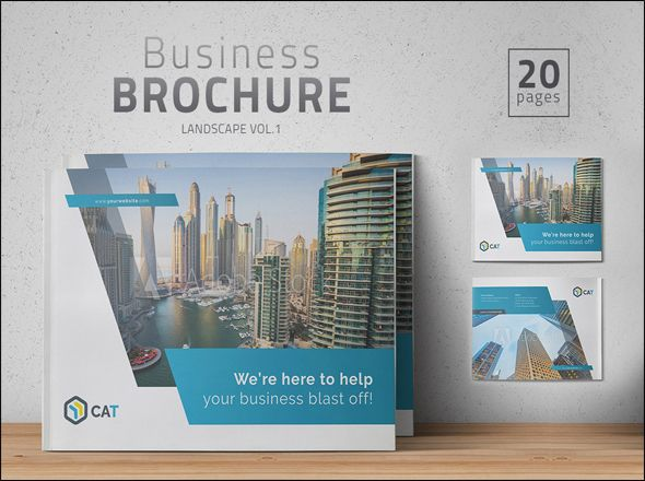 Free Photo Realistic Corporate Brochure Template Designs - Company brochure templates free download