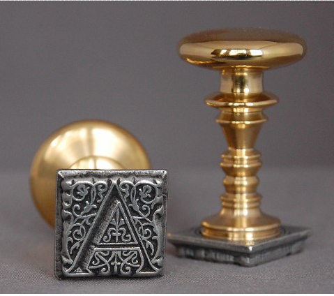 french aladine 1 square initial wax seal stamp fountain pens