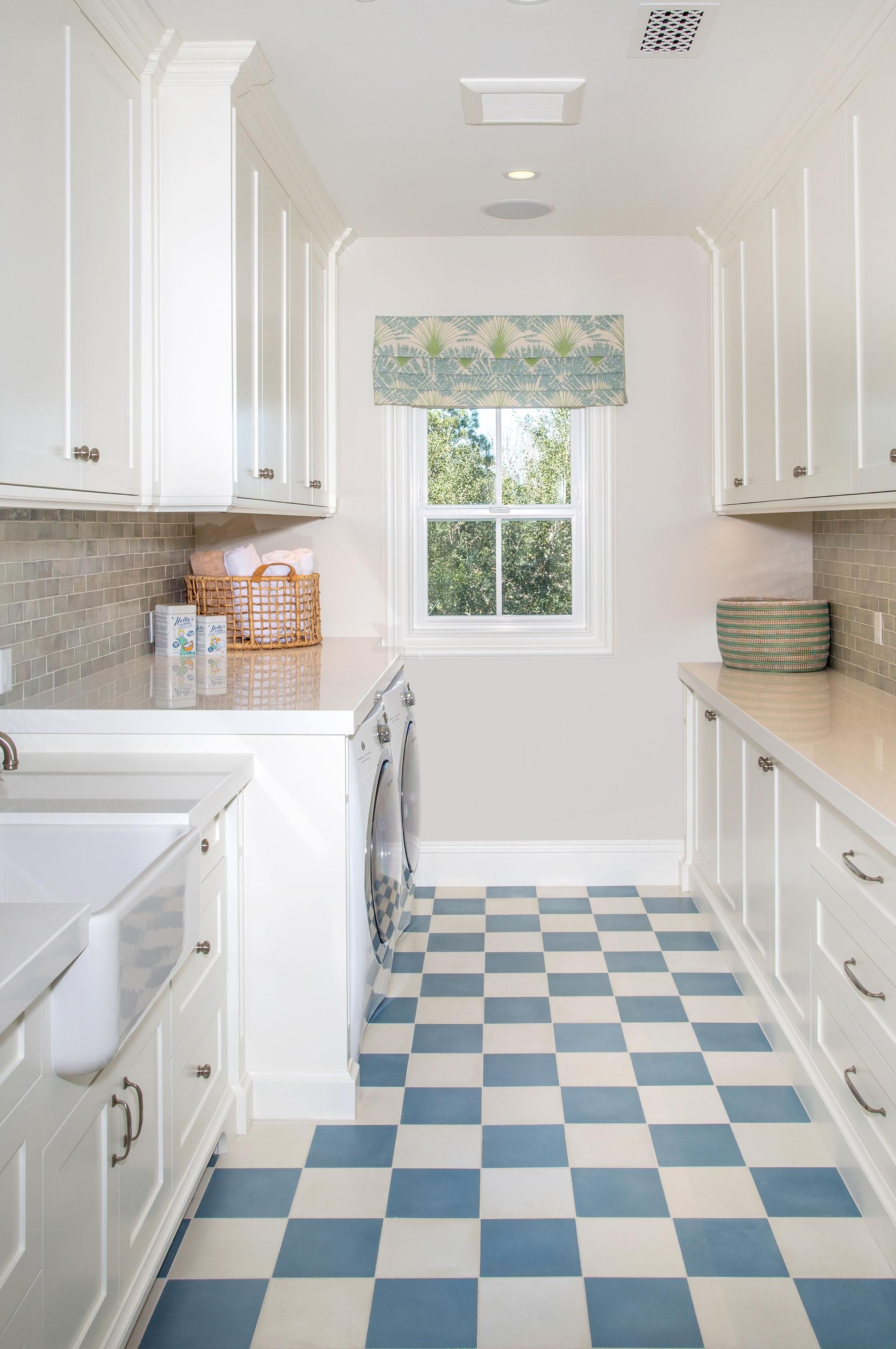 The classic checkerboard floor is not just for kitchens! From the ...