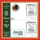 Mini Fall and Halloween Booklet  This Easy Assembly booklet has a fall image on each page, in black and white (great for colouring!), and lines for...