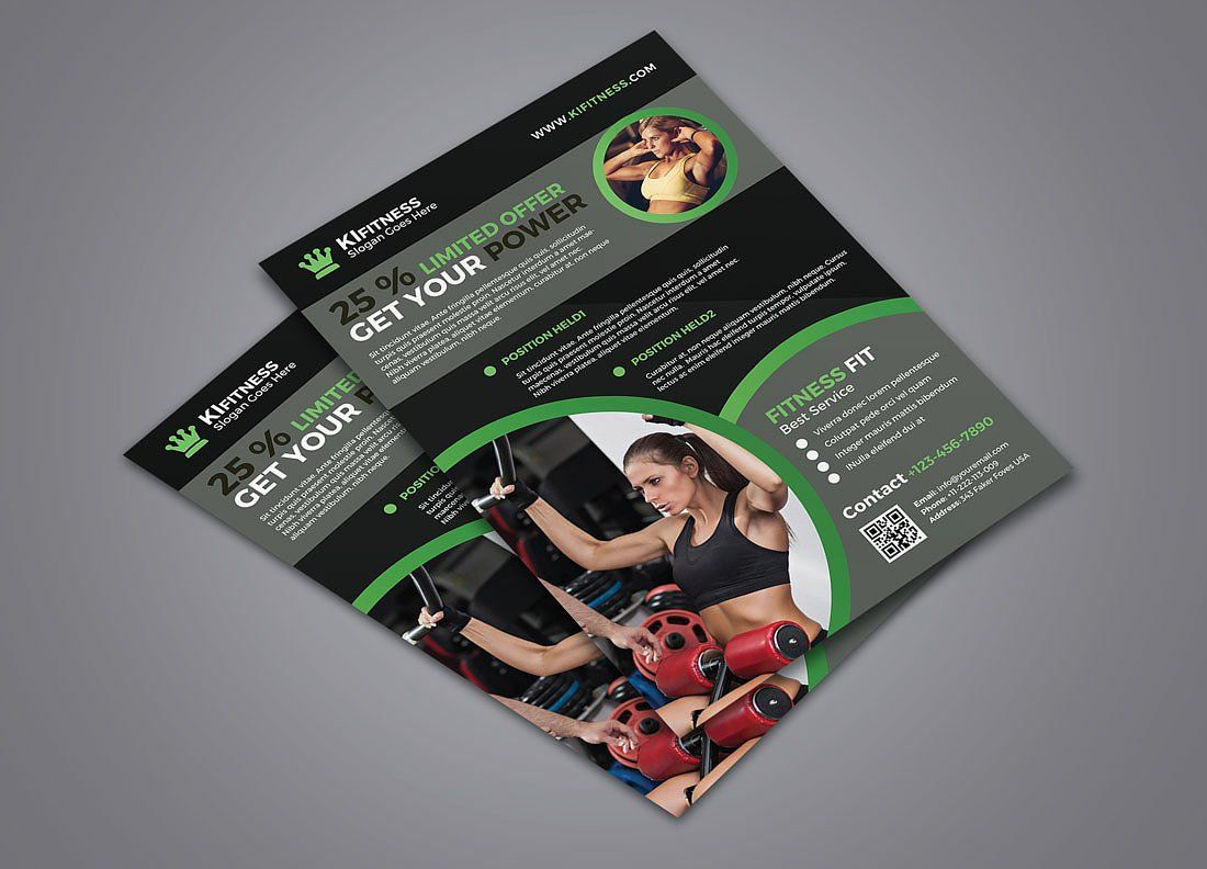 Fitness Flyer By Graphicidenic On Creativemarket  Creativos
