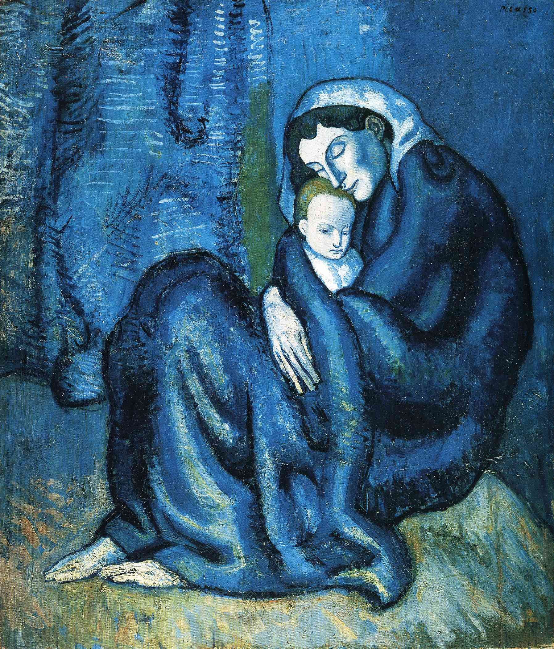 Außergewöhnlich blue paintings images | Mother and child - Pablo Picasso @PF_99