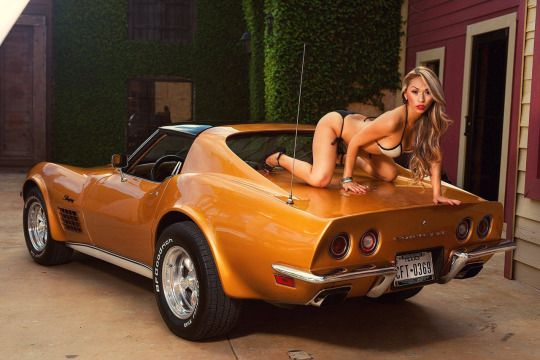 Nude tiawanese girl on corvette