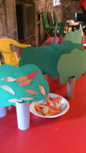 Easy, fun, toddler proof autumn trees :-D