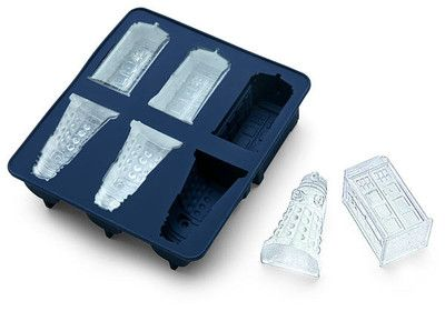 Doctor Dr Who Ice Cube Tray Chocolate Mold Tardis & Daleks Officially Licensed