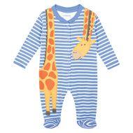 Giraffe Appliqué Baby Sleepsuit