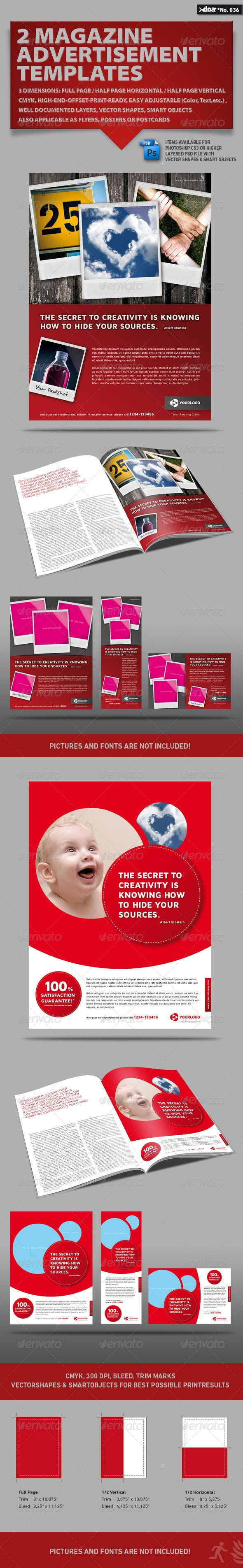 half page advertisement template