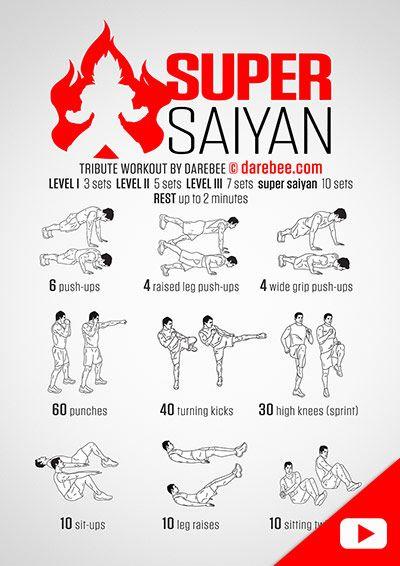 Visual Workouts Saiyan Workout Super Saiyan Workout Fighter Workout
