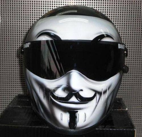 Anonymous Motorcycle Helmet Peel And Stick Vinyl Decal Sticker - Custom vinyl stickers for helmets