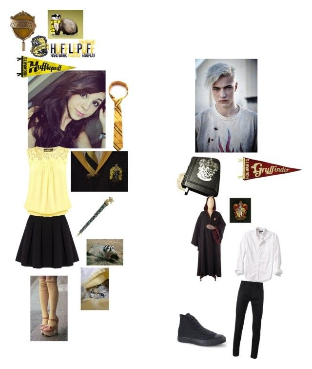 """""""hogwarts 2"""" by angelsdevildes ❤ liked on Polyvore featuring Polo Ralph Lauren, Pilot, Banana Republic, Haider Ackermann y Converse"""