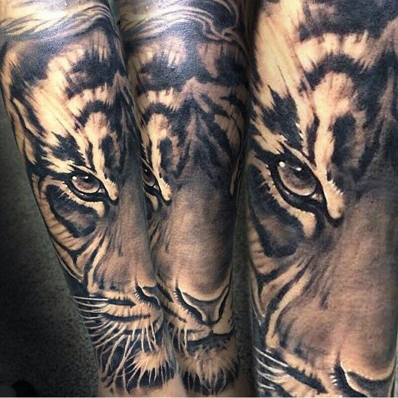 tiger tattoo tats pinterest tattoo ideen ausgefallene tattoos und unterarm tattoos. Black Bedroom Furniture Sets. Home Design Ideas