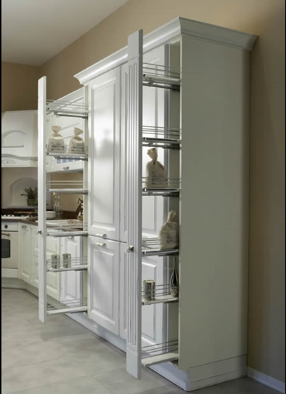Axis Cucine Provenze Classic Kitchen Cabinet Modular System Vertical Pull  Out Storage Space