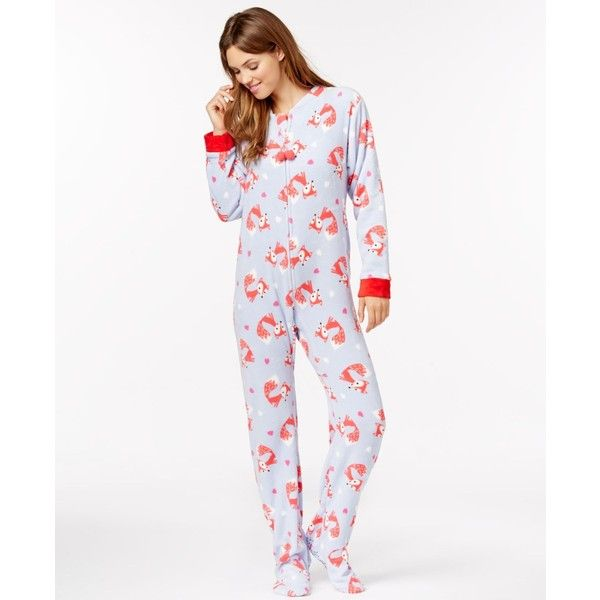 3311024bdd Pj Couture Plush Footed Adult Onesie Pajamas ( 30) ❤ liked on Polyvore  featuring intimates