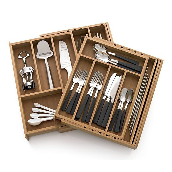 Expandable Bamboo Flatware Tray Crate And Barrel Bamboo Flatware Crate And Barrel Flatware Tray