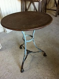 Vintage French Metal Bistro Table With Original Black And Green Patina Circa 1940 Me Pinterest Metals Nest Room