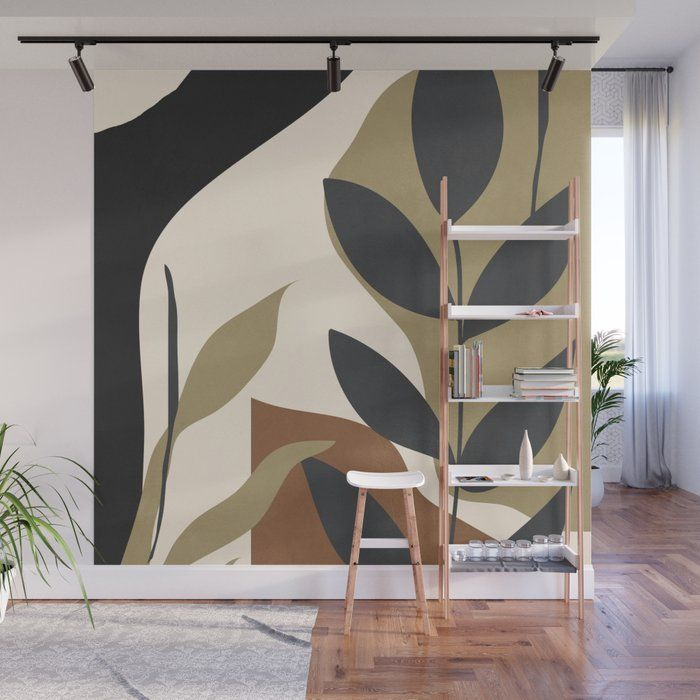 Abstract Art 57 Wall Mural by Thingdesign - 8' X 8