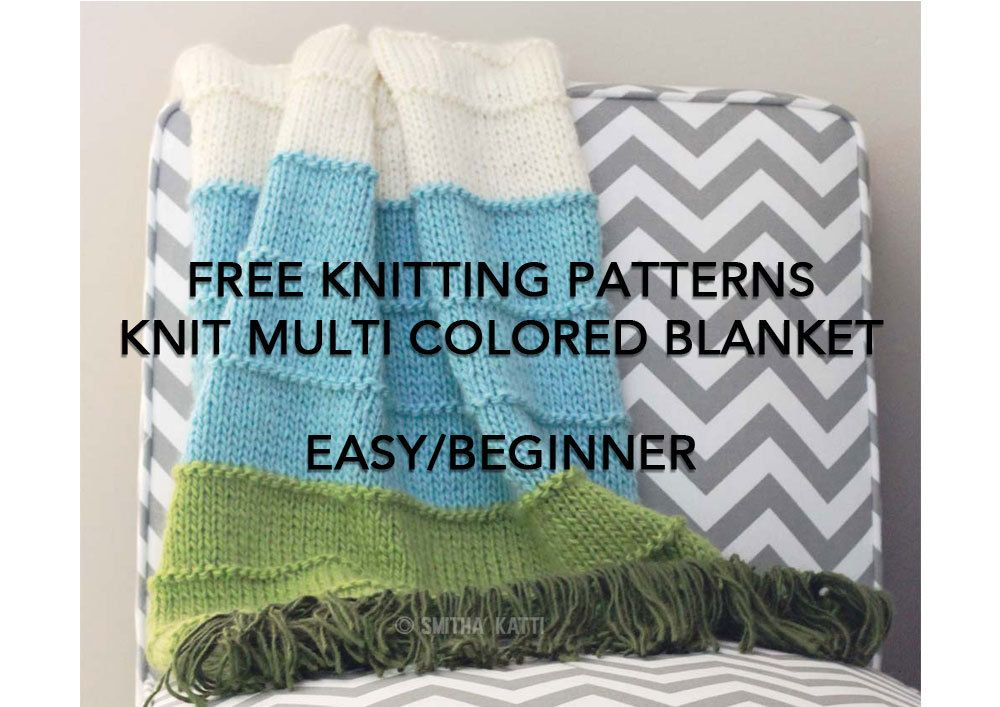 Free Knitting Patterns Diy Knitting Easy Beginner Blanket Pattern