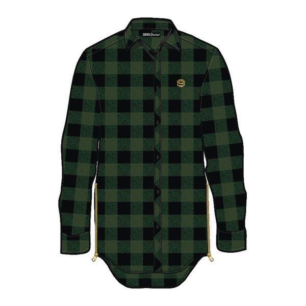 Lumberjack Elongated Woven L/S (Green)