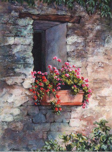Margaret Eggleton SBA Watercolor (Remarkable) Pinterest - peinture porte et fenetre