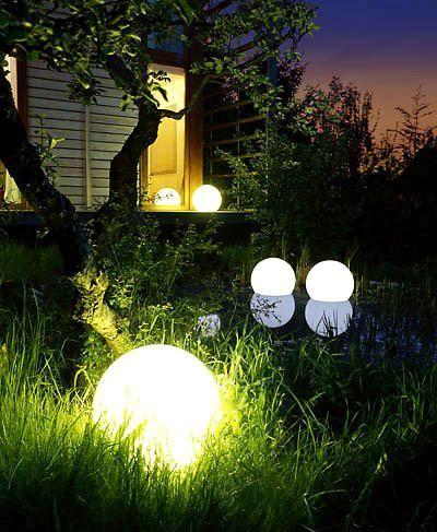 Glowing Garden Orbs (With images) Garden design, Orb light