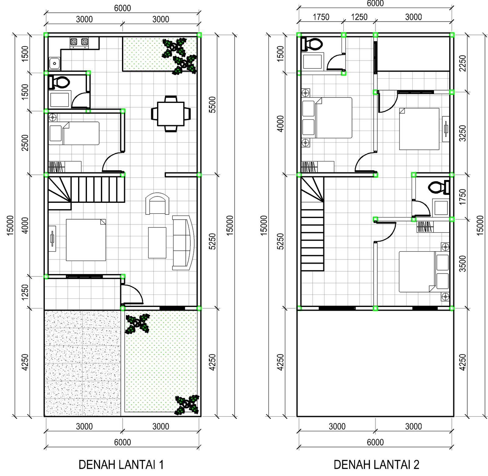 Tangga Rumah Minimalis Modern 2 Lantai Google Search Denah