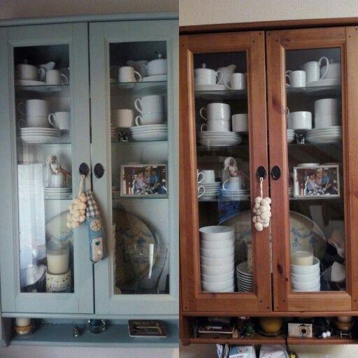 Antes y despu s mueble lesvik de ikea pintado con for Pintar mueble ikea chalk paint