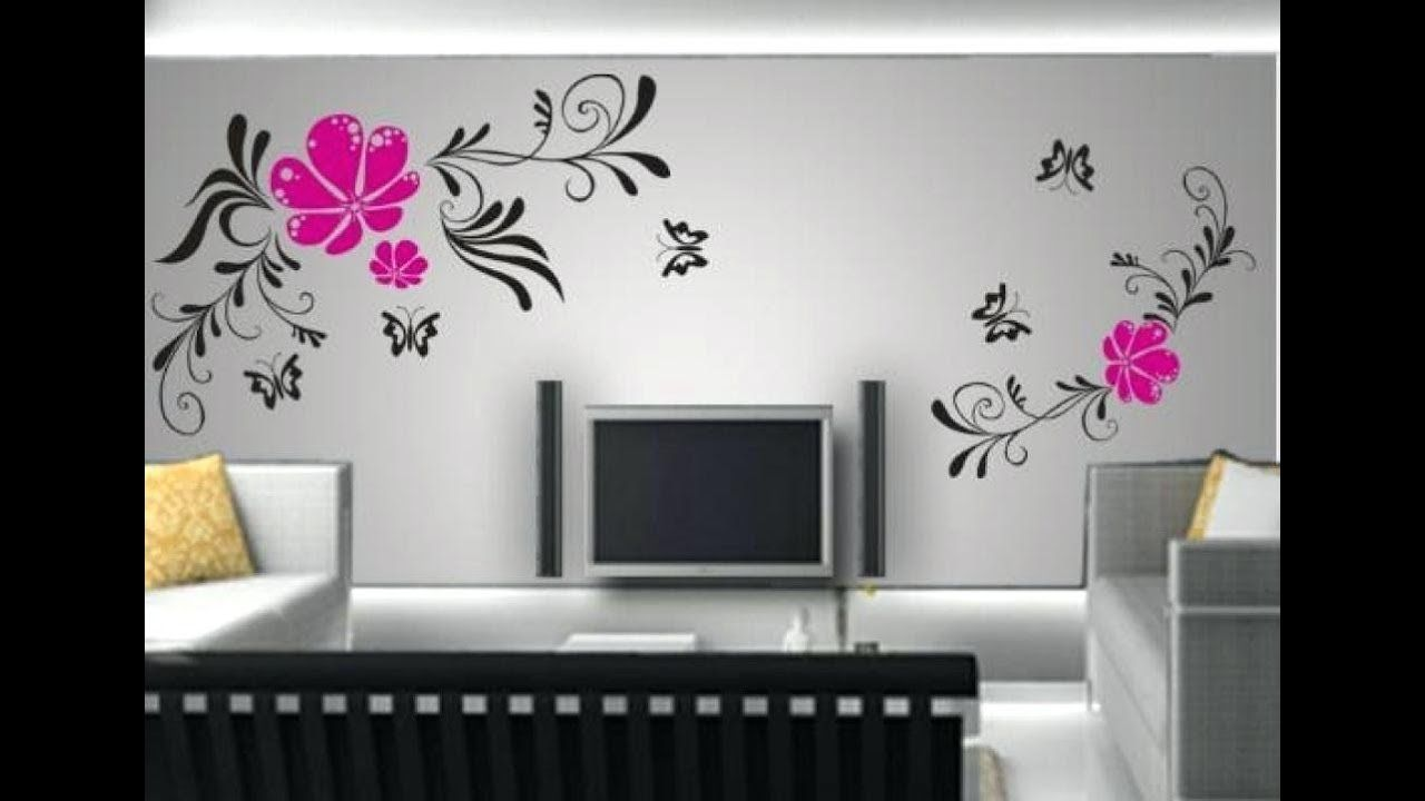 Simple Bedroom Wall Art Simple Wall Painting Designs Ideas Homyracks