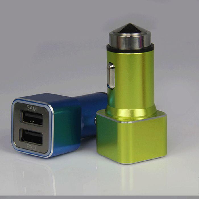 Edelstahl- Auto -Handy-Ladegerät