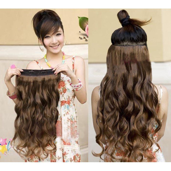 One Piece Human Hair Extensions For Immediate Magic Of Change Hair Styles Wavy Hair Extensions Human Hair Extensions