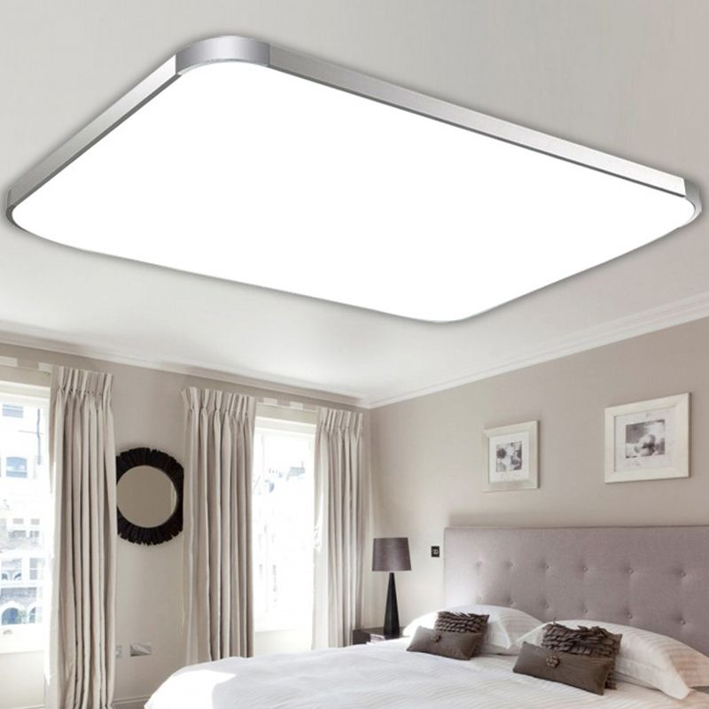 Modern Square Led Ceiling Light Living Dining Room Bedroom Panel Lamp With Remote Control