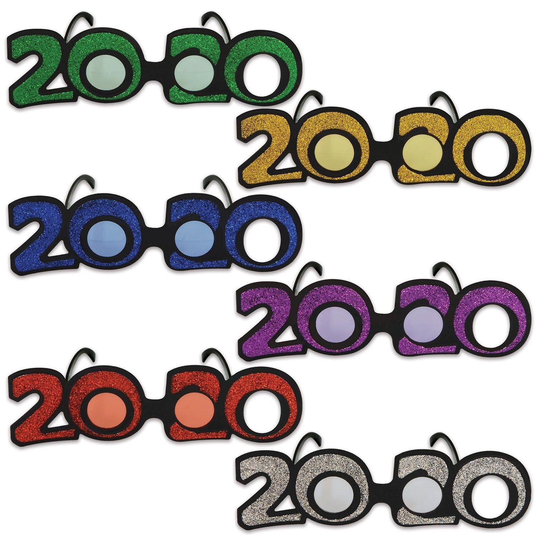24ct Multicolor 2020 Glittered Plastic Eyeglasses in 2020