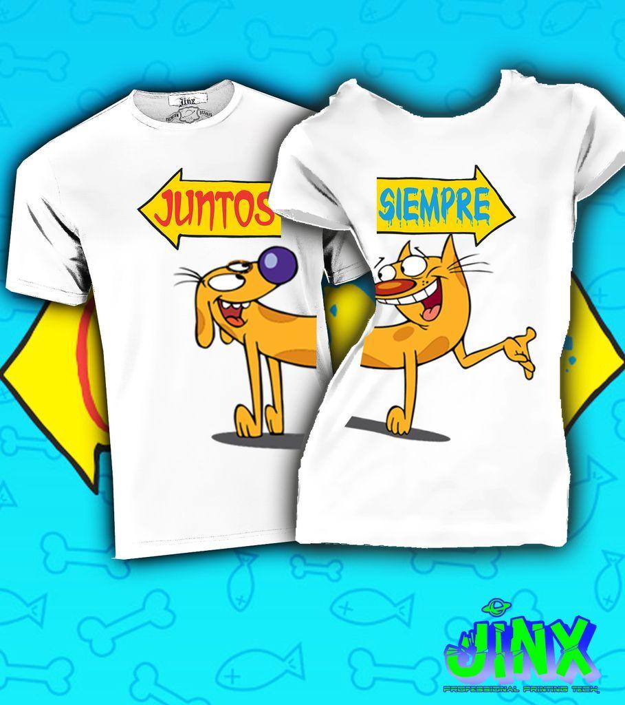 299.00 2 Playeras Para Pareja Cat-Dog Juntos Siempre - Jinx  b0c38d43cd313