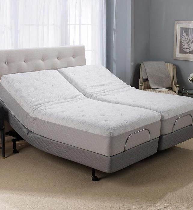 Split King Gel Memory Foam Adjule