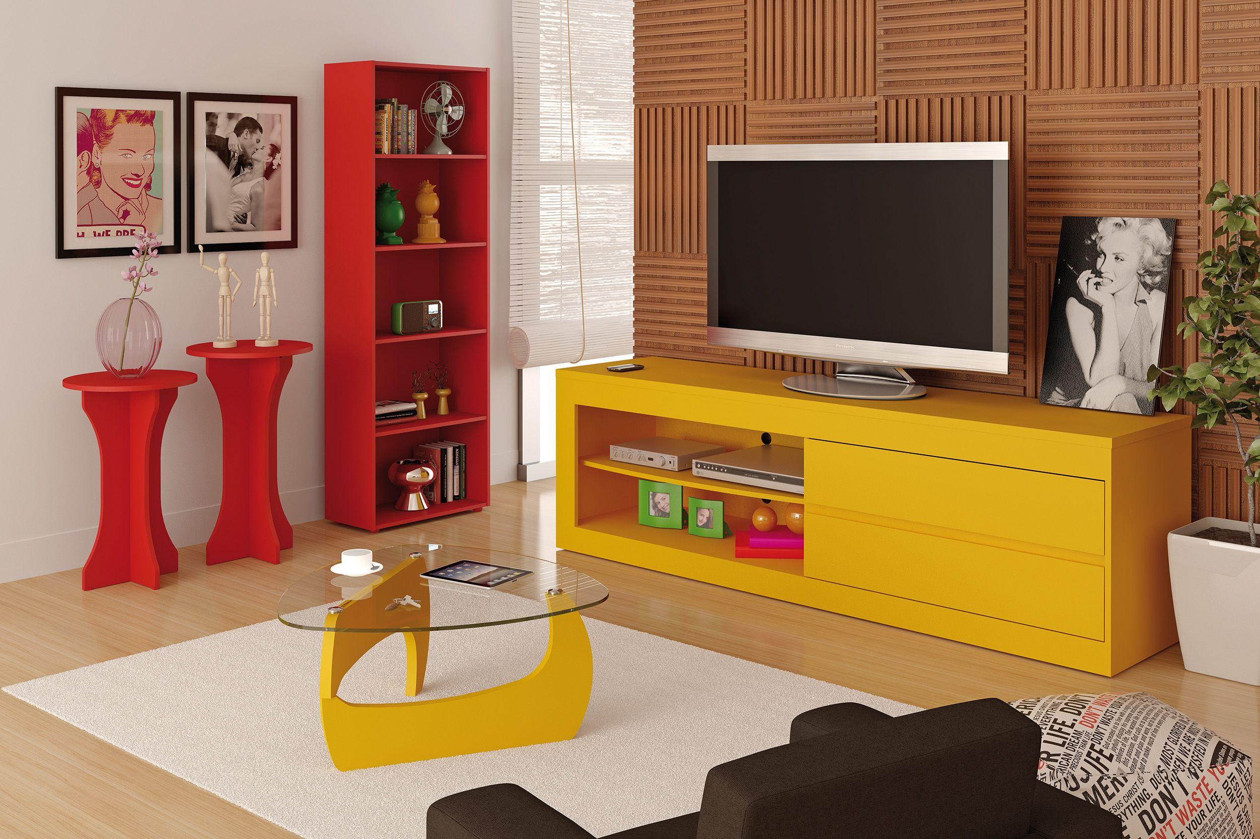 Decora O Sala Vermelha E Amarela Pesquisa Google Decor Pinterest -> Decoracao De Sala Pequena Vermelha E Amarela
