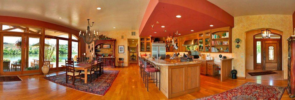 The dining room and kitchen of the Thousand Springs Winery Bed and Breakfast ... 18852 Highway 30, Hagerman, Idaho 83332, 208/352-0150 ~ Check it out!!!