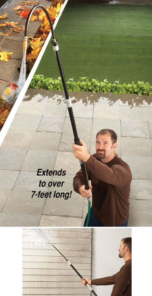7 Ft Gutter Flusher Water Blaster Hose Attachment Cleaning Gutters Leaves Yard Cleaning Gutters Gutter Cleaner Water Blaster