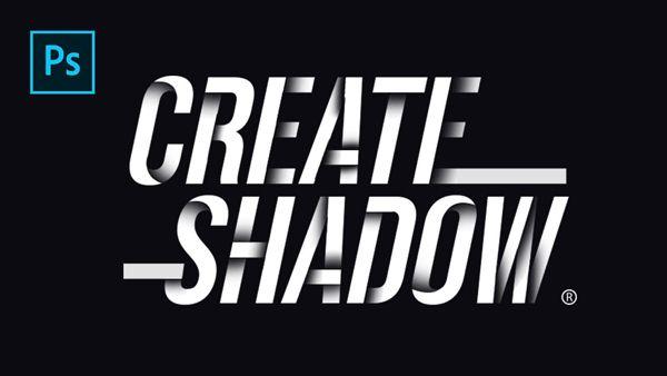 Line Art Effect Photoshop Tutorial : How to create drop shadow on text line photoshop tutorials art